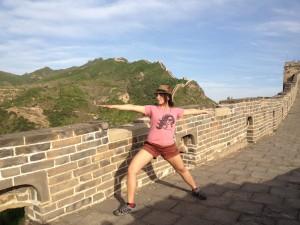 Der Krieger auf der Chinesischen Mauer